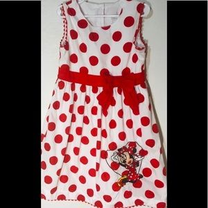 Disney red and white dress